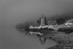 Black and white (janne.skei) Tags: black white blackandwhite limestonemining fabrik old snow limestone houses house mist misty fog foggy water sea tree trees sky architecture art beautiful background cold peace fz1000 grey light january fjord lake rock lumix lovely lumixfz1000 landscape magic moment mysterious nature norway norge ngc outdoor ocean nostalgic panasonic raw reflectoin roof surnadal seascape shade silhouette today theunforgettablepictures upsidedown winter mirror