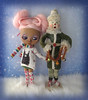 Someone must have chilly hands! (Pink Anemone) Tags: fake factory tbl tan pinkmohair holiday christmas snowman blythe pink anemone