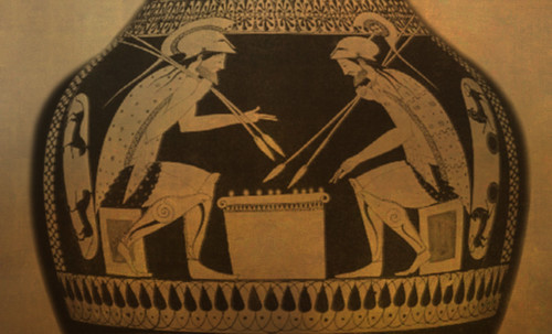 "Petteia - Ludus Latrunculorum  / Iconografía de las civilizaciones helenolatinas • <a style=""font-size:0.8em;"" href=""http://www.flickr.com/photos/30735181@N00/31710156213/"" target=""_blank"">View on Flickr</a>"