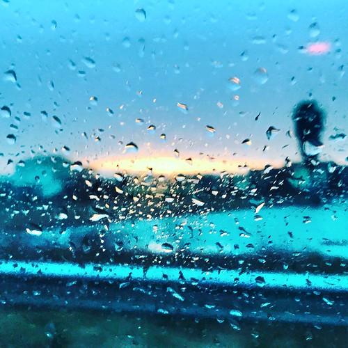 Sunset rainy