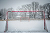 "goal (Ibi Szabo"") Tags: nikond7000 allrightsreserved snow 2016 madison wi winter soccer goal red trees ice"