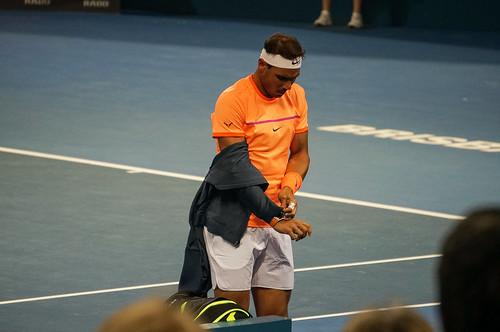 Rafael Nadal Prepares For Match