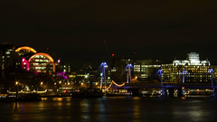Charing Cross, London (Nick Fewings 4.5 Million Views) Tags: london capital station charing cross night nightshot long exposure nickfewings colours colourful colors colorful thames river reflections lights neon canoneos7dmarkii