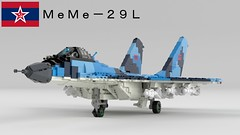 MeMe-29L (Awesome-o-saurus) Tags: lego mig29 jet fighter plane