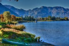 Il molo (giannipiras555) Tags: landscape lago collina barca riva spiaggia alberi autunno idro brescia azzurro cielo