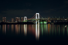 Rainbow  Bridge (fredMin) Tags: long exposure city travel cityscape bridge river tokyo japan asia