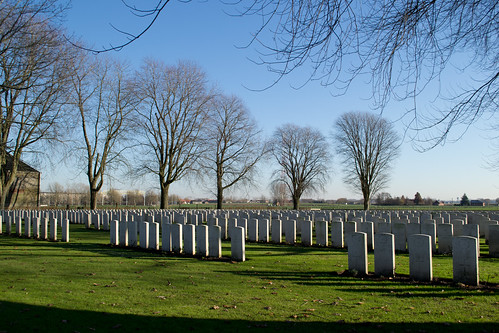 Belgium Vlamertinghe New Military Cemetery (#0321)