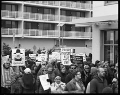 Formation (thereisnocat) Tags: pentax pentax67 165mm protest womensmarch womensmarchap asburypark monmouthcounty newjersey nj fp4