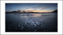 Frozen Meadow (MartinFechtner-Photography) Tags: grafschaftbentheim nordhorn gildehauservenn venn meadow frozen wiese gefroren frost winter january januar sunset ice eis wasser clouds wolken kalt cold morning light licht sunrise fuji fujinon xt2 sonnenaufgang