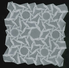 Nonagon star tiling (Paper Mosaics) Tags: origamitessellationsoftware origamitessellation geometry tiling tracing paper nonagon star alexbateman