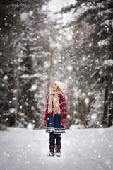 Winter Magic (Anita Price Foto) Tags: winter magic child kids girl white red snow snowing forest trees dreamy dreaming wonders little smile happy