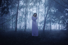 Falling deeply (Deltalex.) Tags: deltalex girl woman forest woods fog summer january conceptualphotography fineartphotography fineart selfportrait australia alexbenetel