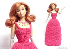 Sophisticated Evening Crochet gown (2) (doll4life14) Tags: doll susie rd outfit gown crochet handmade