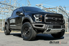 2017 ford raptor with 18in black rhino armory wheels and toyo open