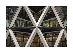 X marks the spot (Explore 25/02/17 #53) (andyrousephotography) Tags: london 30stmaryaxe aka gherkin normanfoster architect design curves building skyscraper architecture tower modern x details construction challenge flickr meetup posse 8thapril andyrouse canon eos 5d mkiii