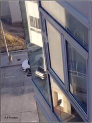 Reflejos superpuestos. Superimposed reflections. (Esetoscano) Tags: street windows reflections lights luces calle shadows ventanas sombras reflejos