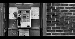 Waiting for someone to call ! (CJS*64) Tags: bw public monochrome wall mono blackwhite nikon call phone box telephone bricks callme communication nikkor dslr 50mmf18d phonebox publicphone communicate whiteblack nikkorlens 50mmf18lens 50mmnikkorlens d7000 nikond7000 craigsunter cjs64