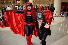 DSC_0099 (Randsom) Tags: nyc fun october cosplay mexican heroine superhero batman comicbooks latex batgirl hispanic latina rogue dccomics villain catwoman spandex pvc javitscenter supervillain batwoman 2015 nycc superheroine nycomiccon newyorkcomiccon batmanfamily nycc2015