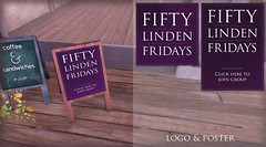 Fifty Linden Fridays - Logo and Poster Samples (LiquidHell Carter) Tags: poster logo design graphic linden bbq event barbecue flf fridays fifty omgwtf smoov