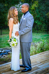 Happy Couple (Shannon Tompkins) Tags: wedding woman white man outside outdoors couple dress kentucky ky marriage husband suit anchorage wife