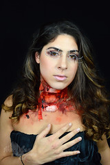Neck Wound (Hey_Lee! Photography) Tags: portrait halloween beauty neck effects photography costume blood cut makeup special mature horror macabre fx wound 2015 heylee heyleephotography