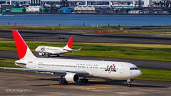 Japan Airlines Boeing 767-346 (JA8269) & J-Air Embraer ERJ-170STD (ERJ-170-100) (JA219J) Tokyo Int'l (Haneda) Airport (RJTT / HND) Taxiing (Bag1024) Tags: japan tokyo airport boeing airlines jal intl jair haneda embraer hnd taxiing rjtt erj170100 767346 ja8269 erj170std ja219j