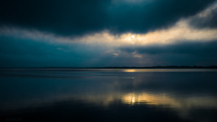 The calm before - DSC06991 ilce A6000 (cleansurf2) Tags: blue light wallpaper sky cloud lake seascape storm abstract black color colour reflection nature water sunrise dark newcastle landscape coast aqua glow view screensaver background widescreen sony dream vivid surreal australia scene calm earthy download backdrop simple 169 ultra 4k waterscape highres 16x9 3840 ilce minimual a6000 emount sonyilce6000