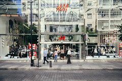 H&M Reflections (ahh.photo) Tags: beirut fujifilm hm hamra lebanon xt1 xf14mmf28r architecture glass people reflection street travel window fav10