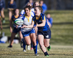 A77V5115 (Don Voaklander) Tags: woman college sports sport female women university edmonton rugby varsity cis pandas universityofcalgary universityoflethbridge intercollegiate womens universityofvictoria canada west field university canadian alberta sport voaklander foote donvoaklander