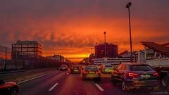 Lev de soleil  sur PARIS depuis la dfense. (Laurent Tine : Guide & Photographe) Tags: paris france iledefrance