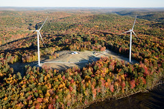 The Ryan Company (quanta.services) Tags: autumn usa weather electric skyline project season site energy technology power unitedstates wind farm connecticut towers ct places aerial structure equipment helicopter generators infrastructure hawt ge source turbine blades generalelectric colebrook utilityscale aerofoilpowered bneenergy colebrooksouth theryancompany