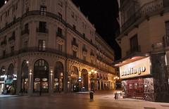 Nocturno (bardaxi) Tags: españa photoshop luces calle spain arquitectura nikon zaragoza aragon perspectiva hdr nocturno photomatix platinumheartaward