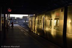 8636 arrives at Pearse, 17/12/16 (hurricanemk1c) Tags: railways railway train trains irish rail irishrail iarnród éireann iarnródéireann 2016 class8521 dart tokyucarcorp 8636 dublin pearse sunlight glint 0830howthbray