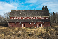 Mark 8:36 Barn (bryanscott) Tags: architecture barn building erickson manitoba sign signage type typography canada ca