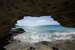 Inside A Sea Cave (vbvacruiser - Catching Up) Tags: cruise caribbean vacation princesscruises royalprincess bahamas eleuthera lighthousebeach cave ocean nikon nikond750