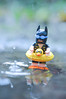 A winter swim (15:365:2017) (Lost Star) Tags: 365the2017edition 3652017 day15365 15jan17 lego batman swimming rain puddle toyphotography minifigure