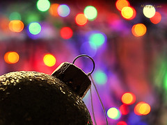 Merry Christmas! (MargoLuc) Tags: christmas time wishes faith hope joy colourful bokeh golden glitter ball december greetings
