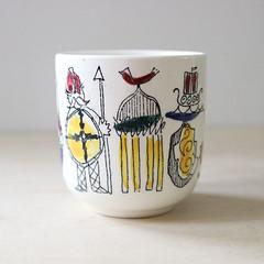 Danmark. (Kultur*) Tags: vintage vintagehousewares barware cup danishmodern midcentury modern denmark serving souvenir viking windmill souvenircup danishsouvenir