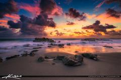 Beautiful Beach Rocks Coral Cove Park Sunrise (Captain Kimo) Tags: aurorahdr2017 captainkimo coralcovepark easyhdr florida hdrphotography lovefl nikhdrefx palmbeachcounty tequesta