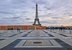paris sunset (poludziber1) Tags: city colorful capital cityscape clouds color colorfull street sky skyline sunset streetphotography paris france urban travel tower