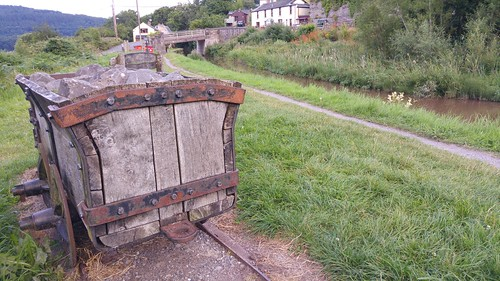 Tramroad truck by the Monmouthshire & Brecon Canal at Talybont-on-Usk