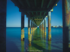 Under The Pier (jeremyzolkowski) Tags: longexposure seascape ocean pier oakbluffs marthasvineyard vineyard