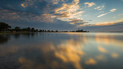 time to reflect... (ImagesByLin) Tags: belmontsouth lakemacquarie clouds lake landscape reflections sunset