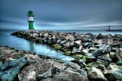 2 Eternal Guards (grothe.manuel) Tags: nikond810 nikon24120mmf40 longtermexposure ndfilter hdr lighthouse twins stones bay ostsee ocean warnemünde rostock germany