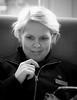 Mirella 2017-01-03 (Michael Erhardsson) Tags: sj personal porträtt svartvitt på jobbet 2017