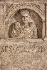 Modena, museo lapidario (annovi.frizio) Tags: modena museo lapidario romano tomba sex scultura bassorilievo viaemilia