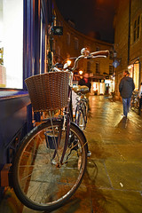 A bicycle (Travis Pictures) Tags: cambridge cambridgeshire cambs city citycentre cityscape night nighttime nightlights rosecrescent bicycle nikon d5200 photoshop evening outdoors outside centralcambridge england uk britain eastanglia fenland thefens