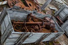 rusting away on the tundra, Svalbard. (alunwilliams155) Tags: cogs rust machinery svalbard