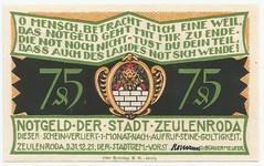 (NoeCR) Tags: germany alemania notgeld zeulenroda papelmoneda notafilia worldpapermoney emergencymoney dinerodeemergencia