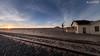 Once upon a time came a train (dieLeuchtturms) Tags: karas 16x9 africa afrika forbiddendiamondarea garub khoekhoegowab namib namibia sandwüste sonnenuntergang sperrgebiet wallpaper wüste desert sanddesert sunset ǁkaras karasregion